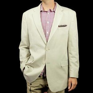 Jos A Bank Mens Blazer Jacket Size 46 L Tailored
